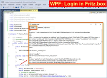 Fritzbox: Desktop Tool zum Login in AVM Fritz.box per Code, WPF, Download