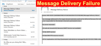 Fehlermeldung: Message Delivery Failure