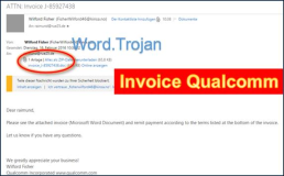 Invoice from Qualcomm has Word-Doc  Trojan horse
