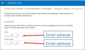 Outlook.com ->externen Email Account anbinden