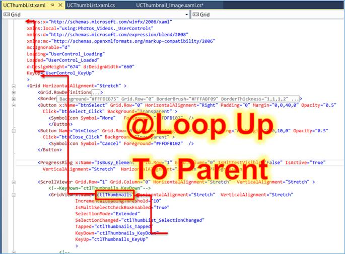 UWP, WPF: C# code to search a parent control in XAML Structure