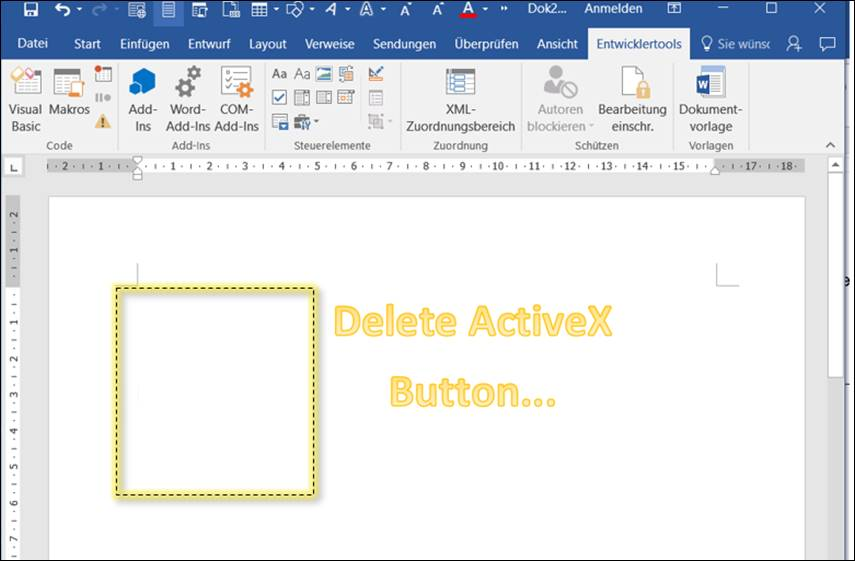 Word macro: delete all buttons and ActiveX controls