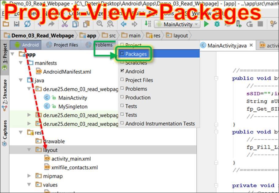 Android Studio: error package name is not set to a valid