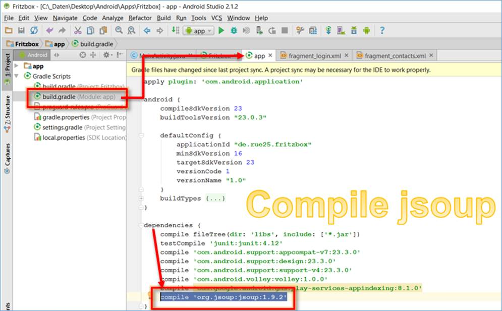 Android Java: evaluate HTML document with Jsoup @ CodeDocu