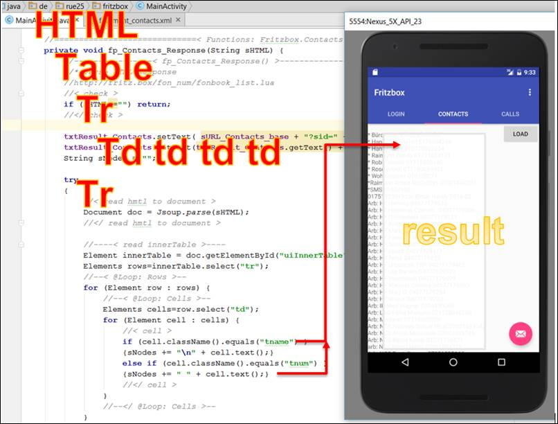 Android Java: Import and evaluate HTML table @ CodeDocu Google