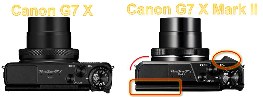 Changings between Canon G7 x and G7 x Mark II  @ CodeDocu Others