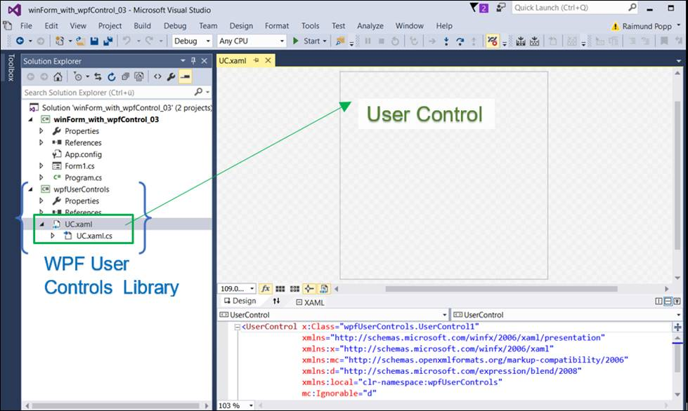WPF control in a Windows Forms application @ CodeDocu Net
