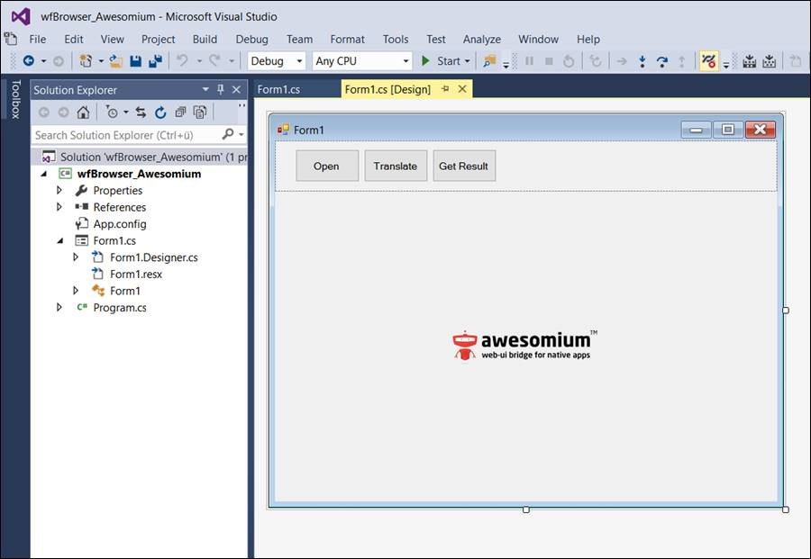Awesomium: Code example in Windows Forms @ CodeDocu Net