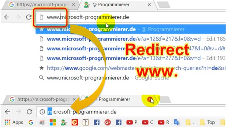 Tutorial IIS: Redirect Website of www  To short URL address