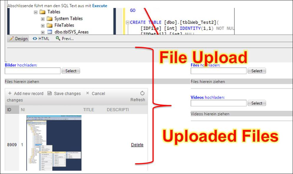 ASP Net Upload Files with Ajax Controls from Telerik How to create