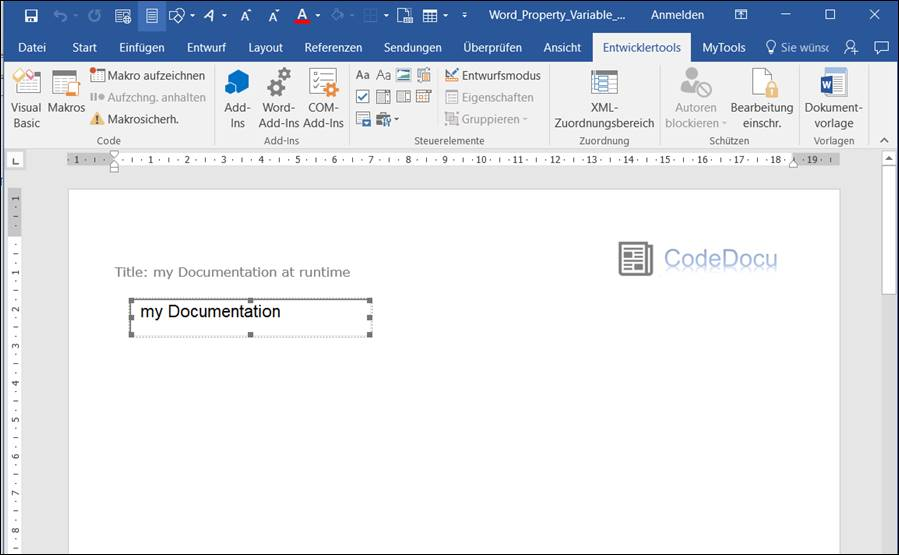 Word vba: Change document property title dynamically with Textbox ...