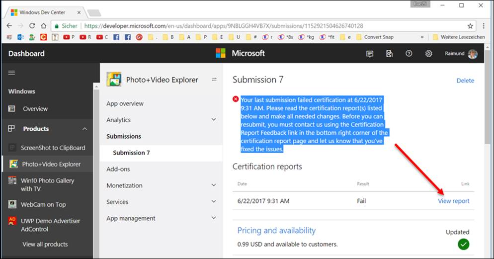 Win Store App: Your last submission failed certification, Privacy ...