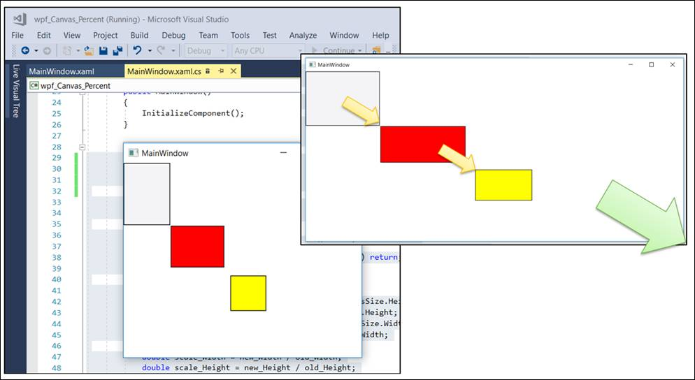 WPF / UWP: Canvas with relative positions and sizes