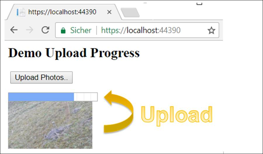 Upload with progress bar, Ajax