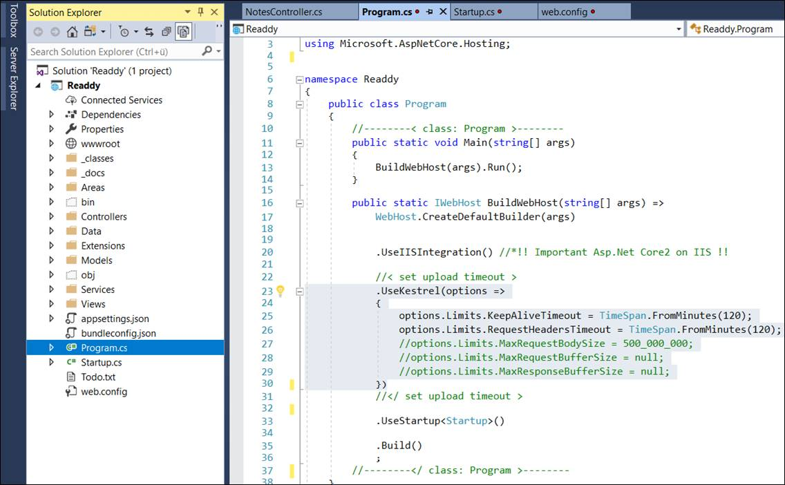 Set upload of very large files in Asp Net MVC Core 2