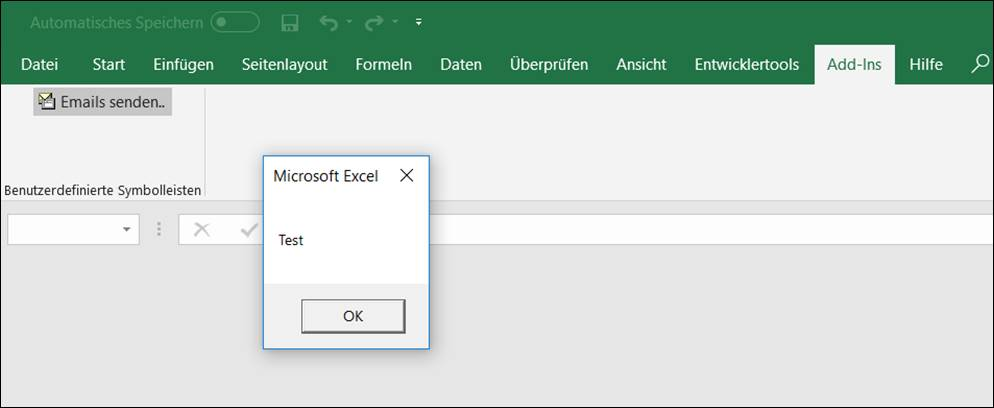 Creating a Ribbonbar Buttons for a vba Excel Addin