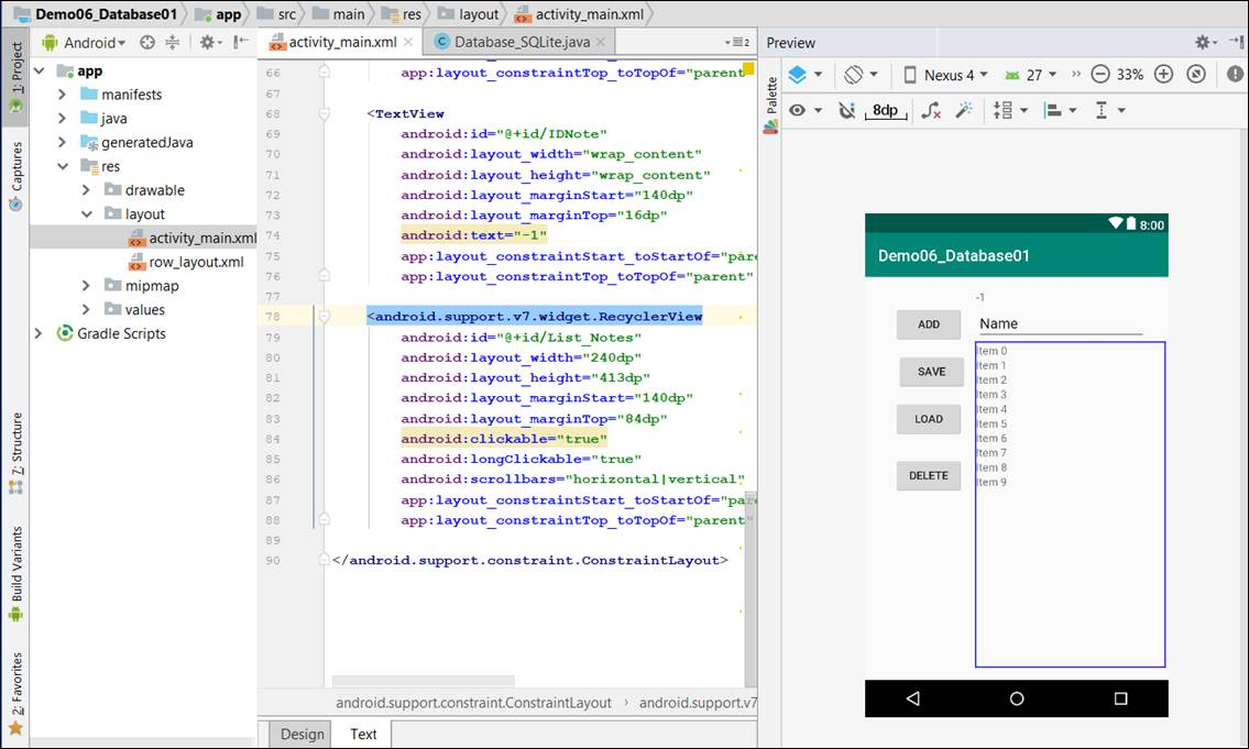 SQLite Database in Android