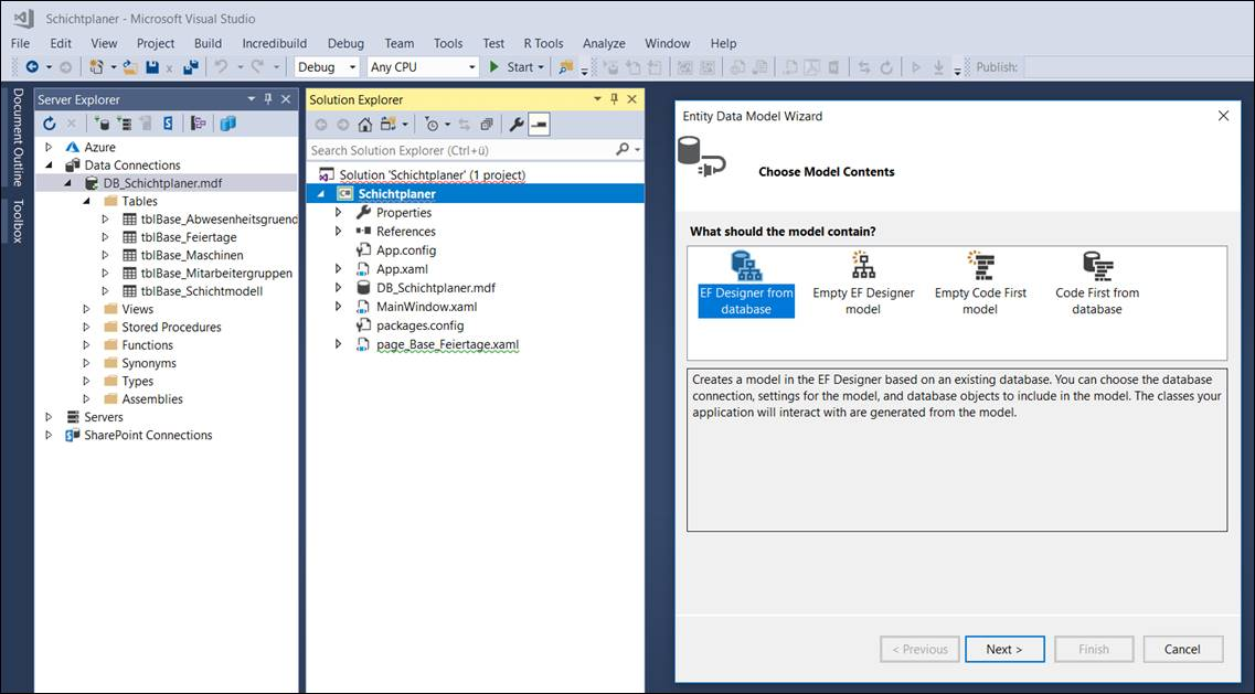 How to add a database functionally to a WPF application