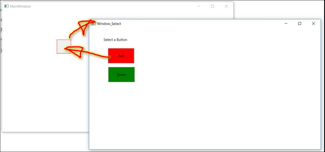 WPF: Selection enter open and well take over with Button