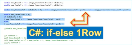 C#: Short Code in one line: result from if - else- then