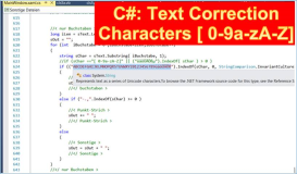 C#: Text without special characters