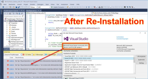 Visual Studio 2015: iAsyncAction error after new installation of Visual Studio