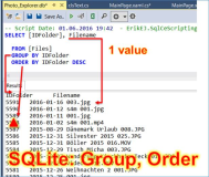 SQLite, UWP: GROUP BY and ORDER BY