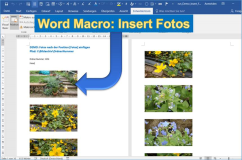 Word macro: Add photos from an image archive to a Word document and customize