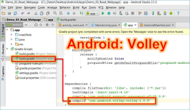 Android Volley: Volley module for WebRequest in Android embed project