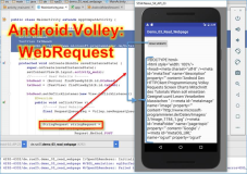 Android dev: http Web page read volley with Android