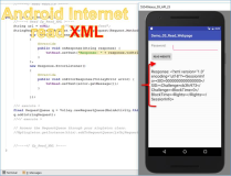 Android Code Developer: Read XML site with Android.Volley.GET