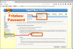 AVM Fritz box: change password
