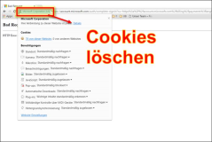 Delete cookies for a Web page