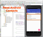 Android code: Android read contacts and store it in a ListView