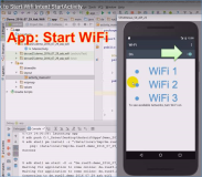 Android app code: App to turn on WiFi by Intent