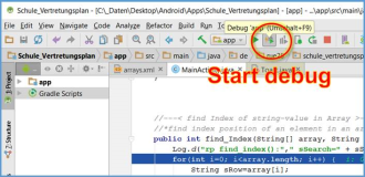 Android Studio: debugging an app
