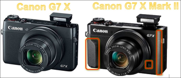 Changings between Canon G7 x and G7 x Mark II.