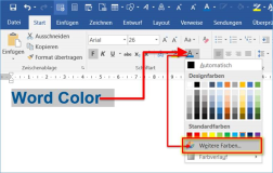 Word/Office: determine RGB values of a color