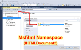 NET: Mshtml namespace and HTML Document