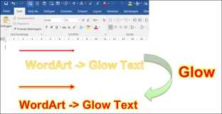 Word vba macro: Changing WordArt with glow effect and shadow
