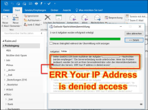 MailEnable: ERR Your IP Address is denied access