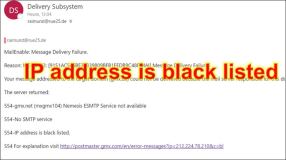 Emailserver: How to fix IP is Blacklisted 1