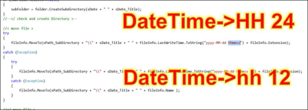 C#, WPF: Output date and time in string with format 24 hours