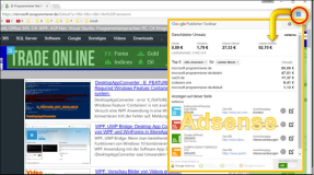Chrome extension: Adsense