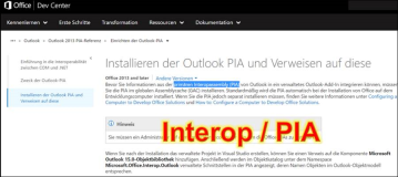 Note: What is Interop and PIA in Microsoft Office