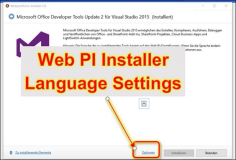 MS Web Installer: Change the language of the installation