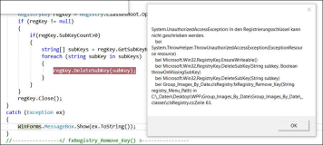 WPF Registry. DeleteSubKey: System.UnautohorizedAccessException