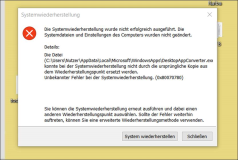System Restore: WindowsApps DesktopAppConverter generates error 0x80070780