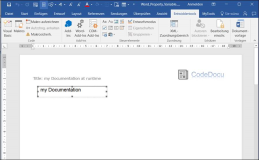Word vba: Change document property title dynamically with