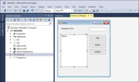 Winforms: Local Database create, bind, show SELECT INSERT UPDATE DELETE